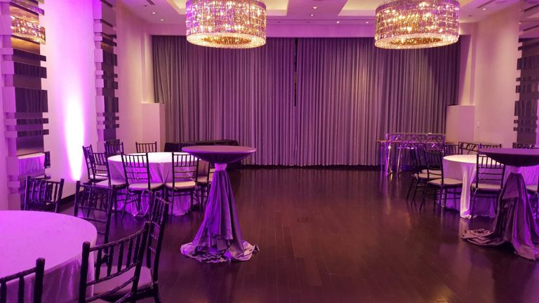 Ivy Hotel Chicago purple themed event space