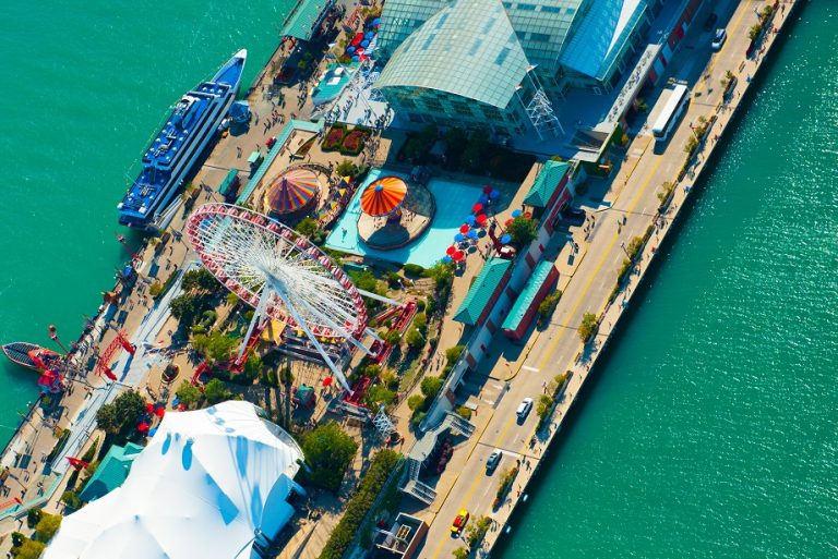 navy pier in the summer