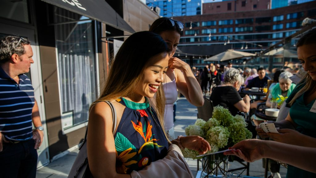women at ivy hotel's renovated rooftop