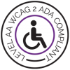 level AA WCAG 2 ADA compliance badge